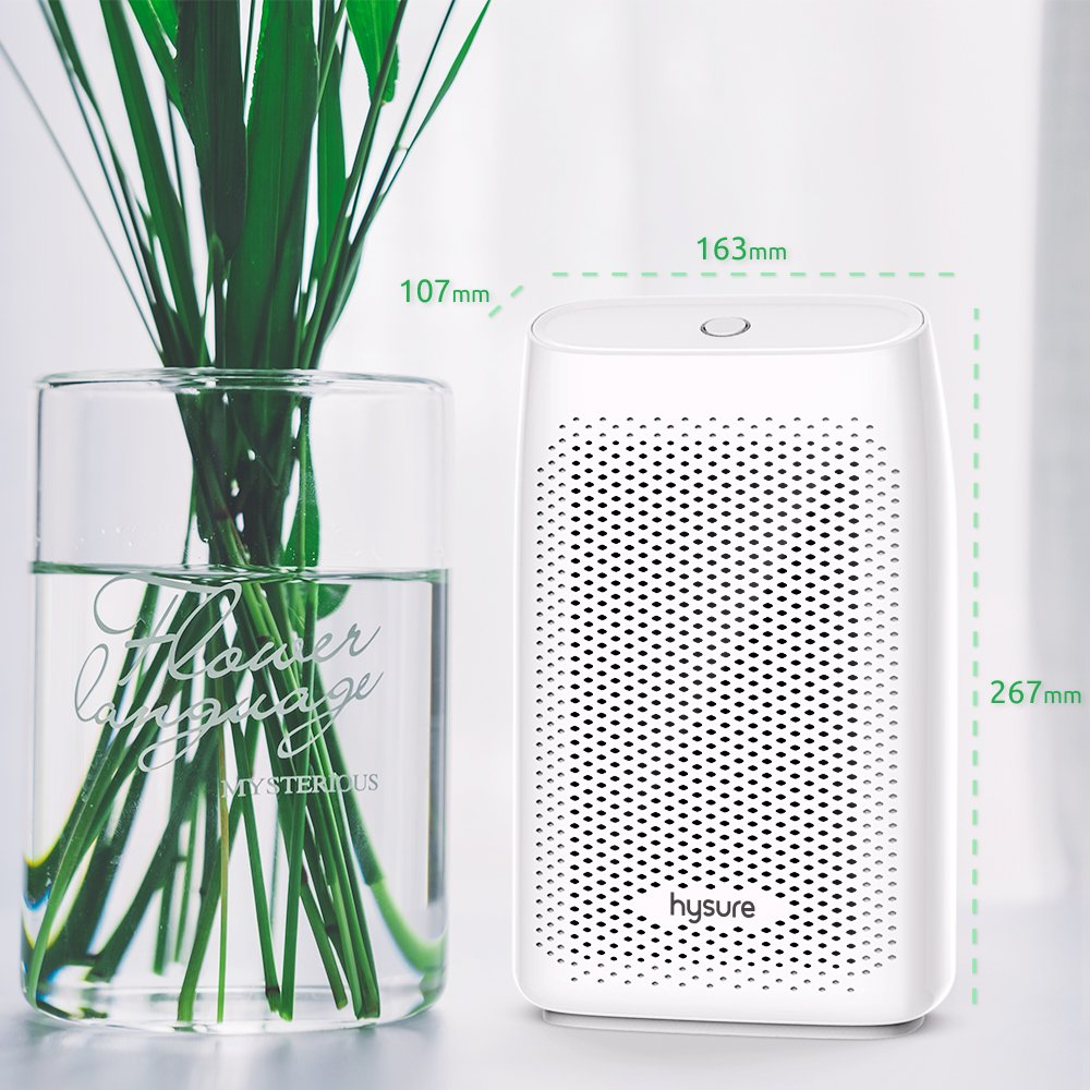 Compact and Portable for Damp Air Mold Moisture in Home Kitchen Bedroom Basement Caravan Office Garage 1400 Cubic Feet 150 sq ft Hysure Electric Mini Dehumidifier
