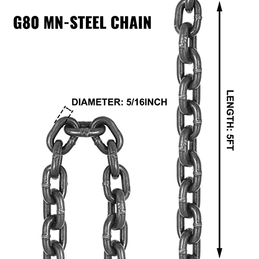 Adj Link 10 ft L Aly STL Chain Sling G80