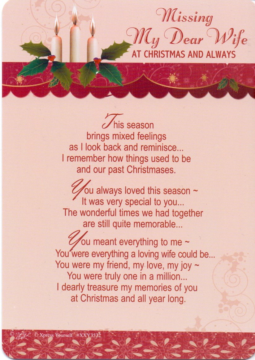 In Loving Memory Missing My Dear Wife At Christmas And Always