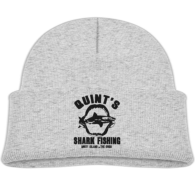 5fe8e867caabf Amazon.com  Beanie Hat Wool Knit Cap Quint s Shark Fishing 3 Boys ...