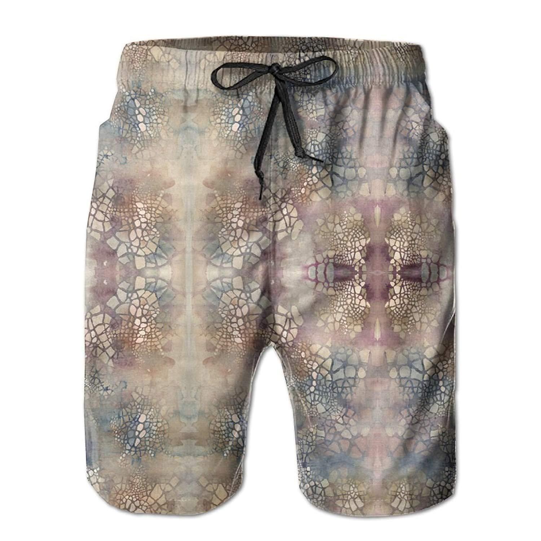 SINOVAL Cityspace Nebulae Mens Summer Casual Swimming Shorts Beach Board Shorts