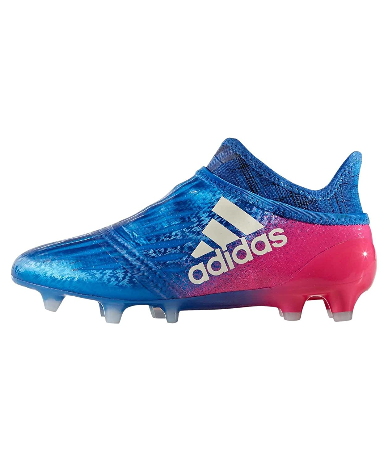a081589f5ba adidas X 16+ Pure Chaos Kids FG Football Boots - Blue White Shock Pink   Amazon.co.uk  Shoes   Bags