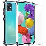 Annhao Funda Samsung Galaxy A51 + Cristal Templado, Transparente TPU Ultrafina Cuatro Esquinas Anti-Caídas Suave…