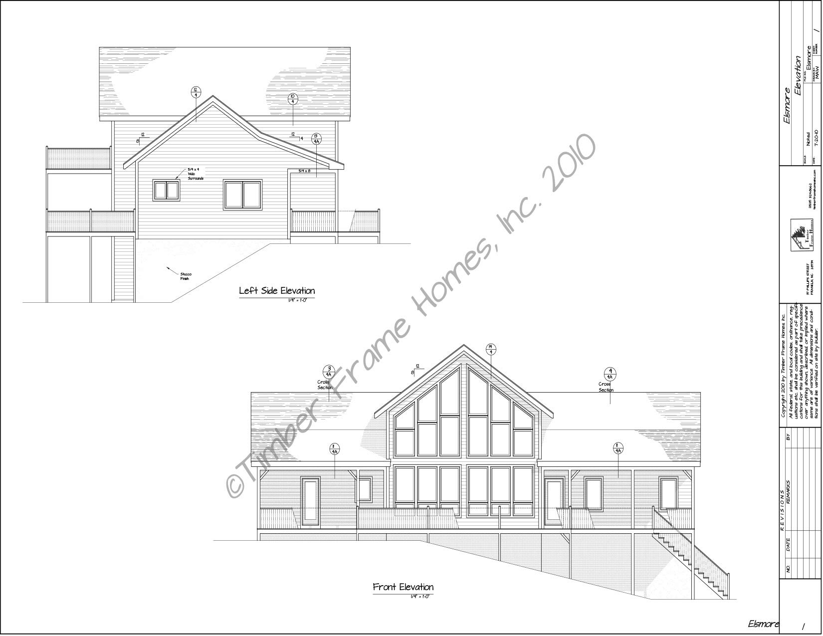 Home Plans - The Elsmore Timber Frame (DESIGN PROOF) by TimberStead