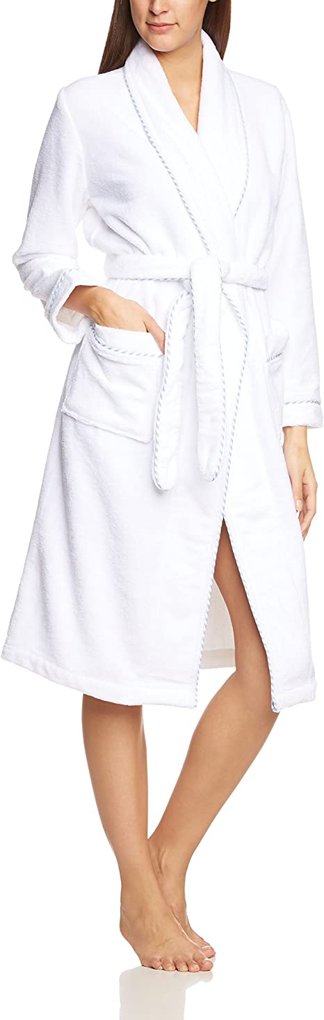 TALLA L. Calida Bathrobe After Shower Albornoz para Mujer