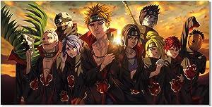 Anime Naruto Akatsuki Pain Poster HD Print on Canvas Painting Wall Art for Living Room Decor Boy Gift (Unframed, Akatsuki-02)