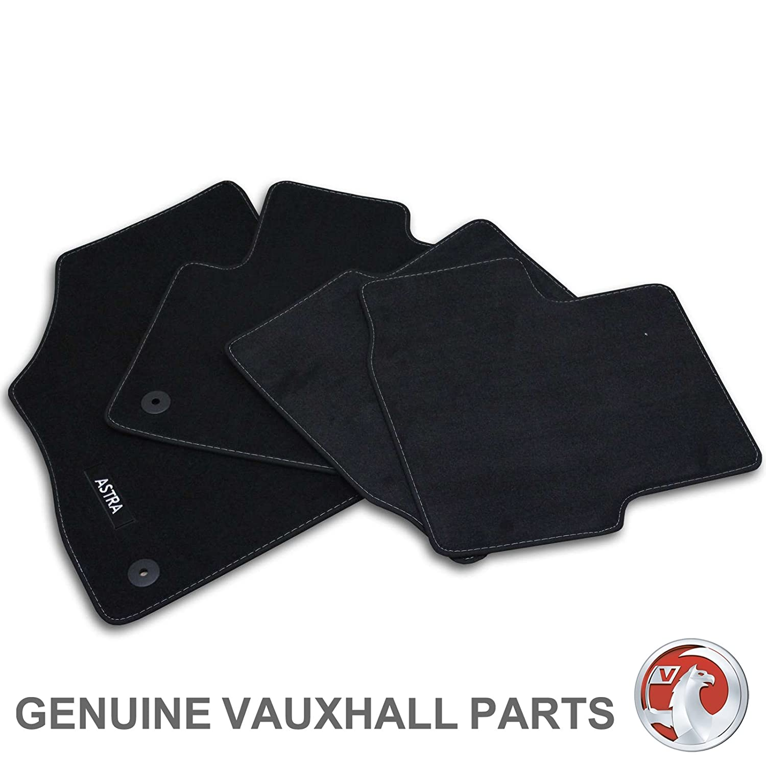 Genuine Vauxhall Astra K Carpet Mats - Black UKCVA026