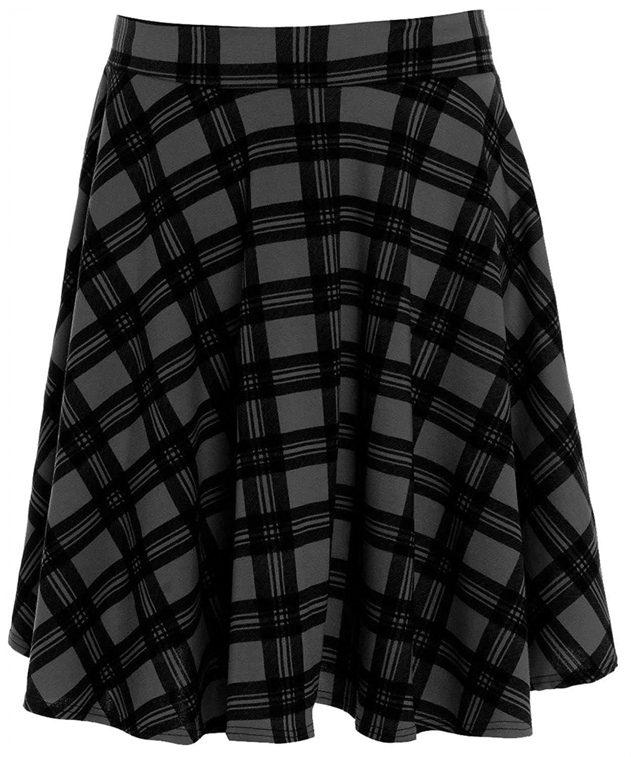Chocolate Pickle New Womens Plus Size Black Tartan Skirt CA_674_FZ