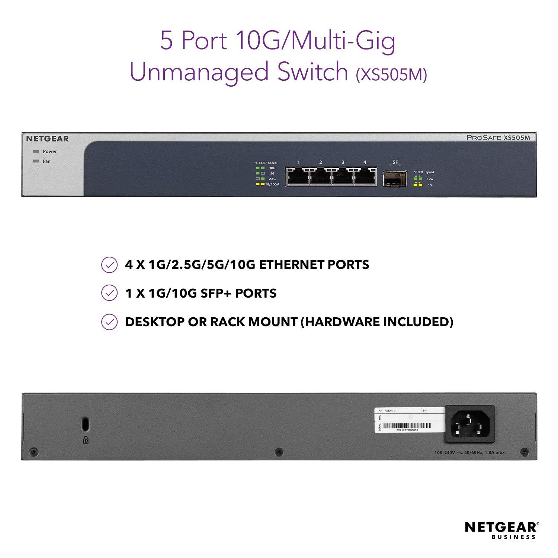 Desktop//Rackmount NETGEAR 8-Port 10G Ethernet Smart Managed Plus Switch XS708E - with 1 x 10Gigabit SFP+ and ProSAFE Lifetime Protection
