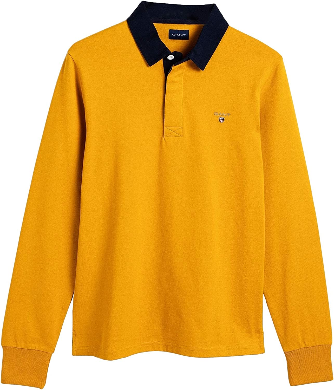Gant Mens Original Heavy Rugger Polo T-Shirt Slim Fit Yellow in ...
