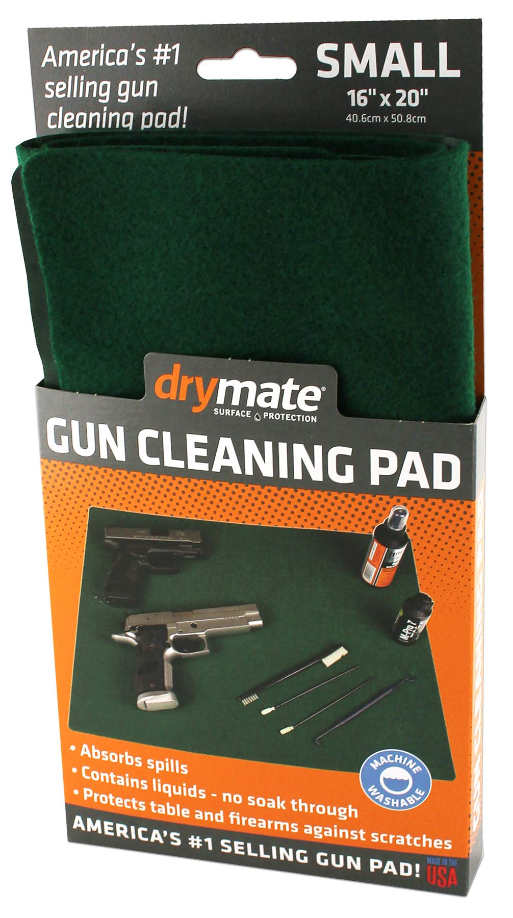 Drymate GPG1620 Handgun Size Gun Cleaning Pad, 16'' x 20'', Green by Drymate