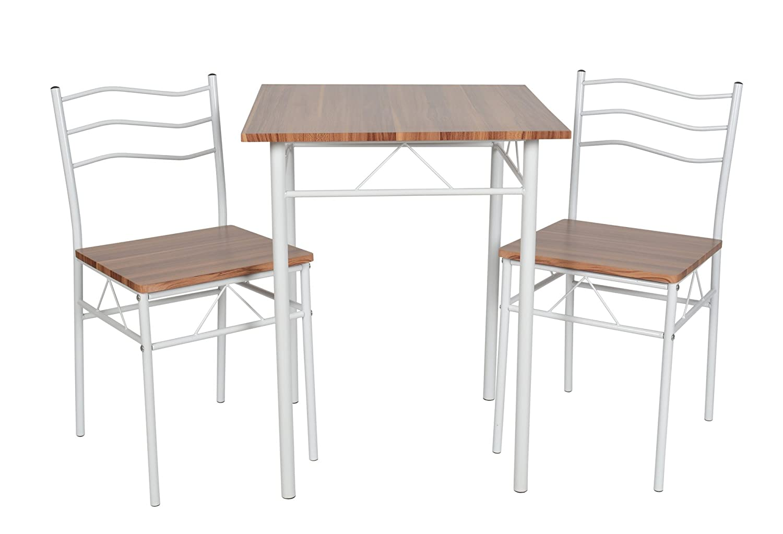 ts-ideen 3-teilige Essgruppe 3er Set Tisch Stühle Esstisch ...