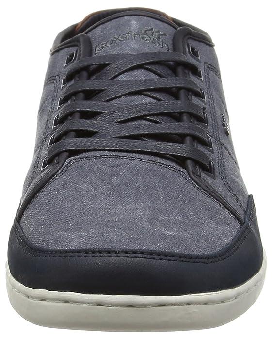 Sparko UG WSD CNVS/LEA BLU Graph/BRIC RD, Mens Low-Top Sneakers Boxfresh