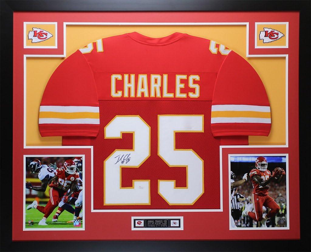 Amazon.com: Jamaal Charles Autographed Red Kansas City Jersey ...