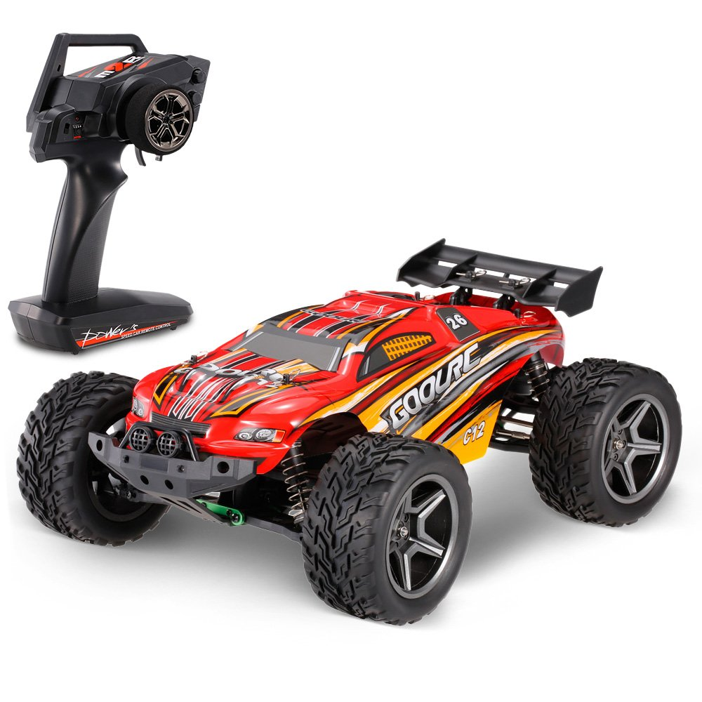 red remote control car