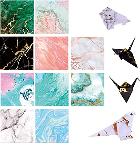 Amazon.com: DOURA Origami Paper 750 Sheets Economy Pack with Storage  -80gsm- 6 inch Square Sheet - 25 Vivid Colors for Gifts | 464x466
