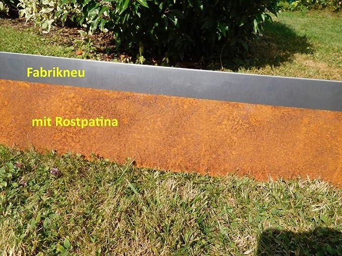 C & C Gartenbedarf 10 x Bordes para césped Acero Corten ...