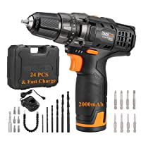 Deals on Tacklife PCD01B Classic 12V Lithium-Ion Cordless Drill Set