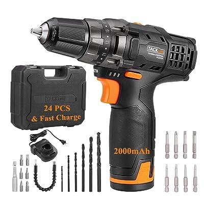TACKLIFE 12V 2.0Ah Cordless Drill