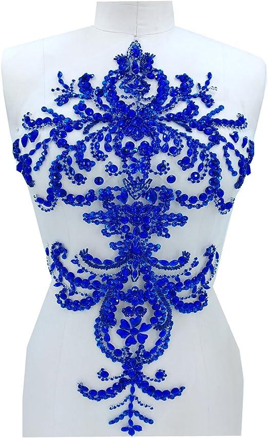 Zbroh - Parches de lentejuelas hechos a mano para coser en azul ...