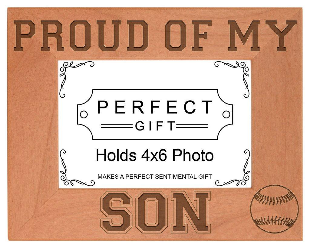 Baseball Player Geschenk Stolz von Sohn natürliches Holz Gravur ...