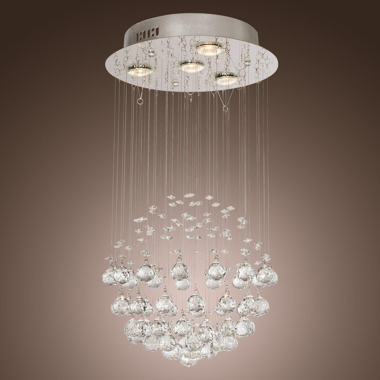 LightInTheBox Chandelier Luxury Modern Crystal Bulb Included