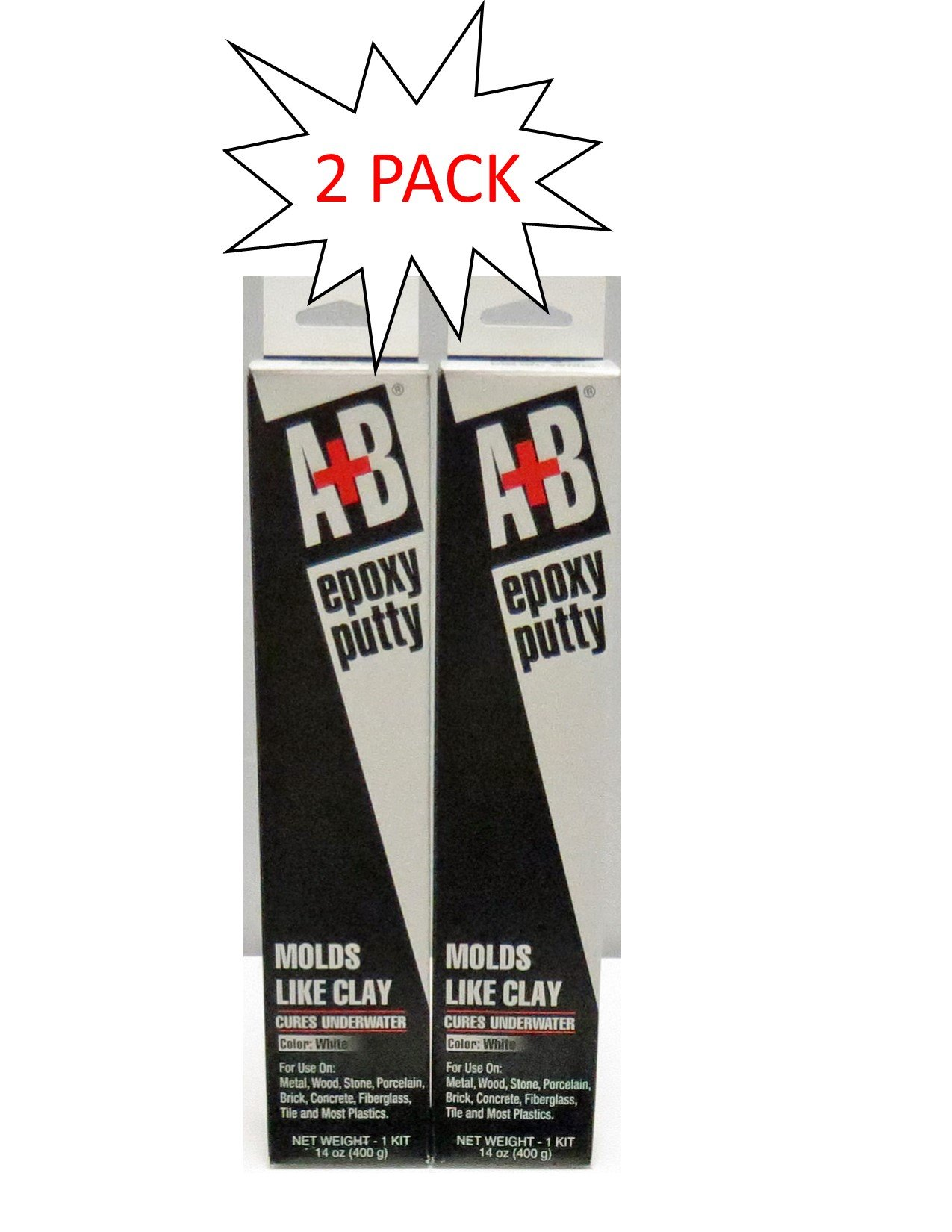2 PACK of A+B Epoxy 9904K White A+B Rezolin Epoxy Kit, 14 oz. Container Size