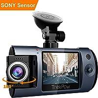 TrekPow T1 Telecamera Auto Dash Cam Full HD 1080P, Lente Ruotabile 180°, Visione Notturna, Sensore Sony, Motion Detection, Registrazione in Loop, Time Lapse, Schermo LCD Video Recorder per Auto