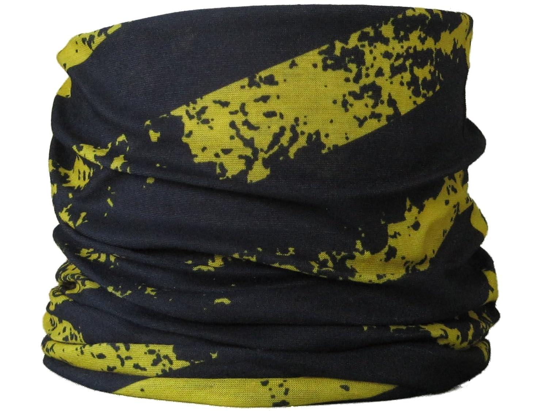 Multifonction Foulard É charpe tube de cou bande noire et jaune