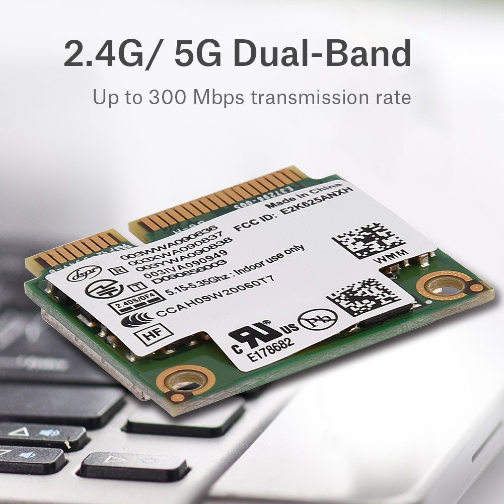 Amazon.com: 2.4G + 5G Dual-Band Mini PCI-E WIFI Wireless ...