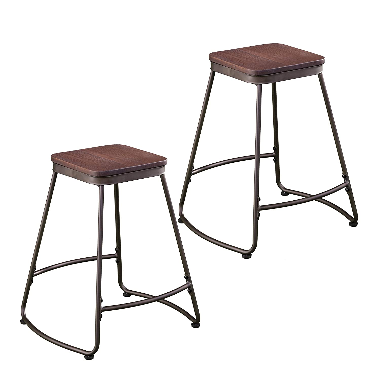 Excellent Amazon Com Southern Enterprises Roldon Counter Stools Set Creativecarmelina Interior Chair Design Creativecarmelinacom