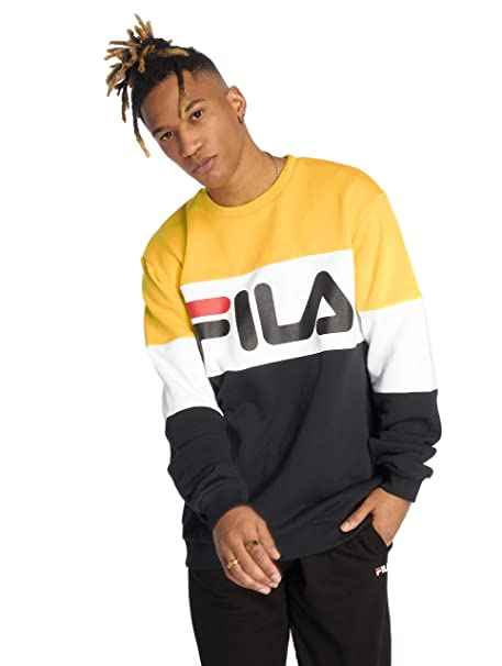 Fila Straight Blocked Sudadera Black/Yellow/White