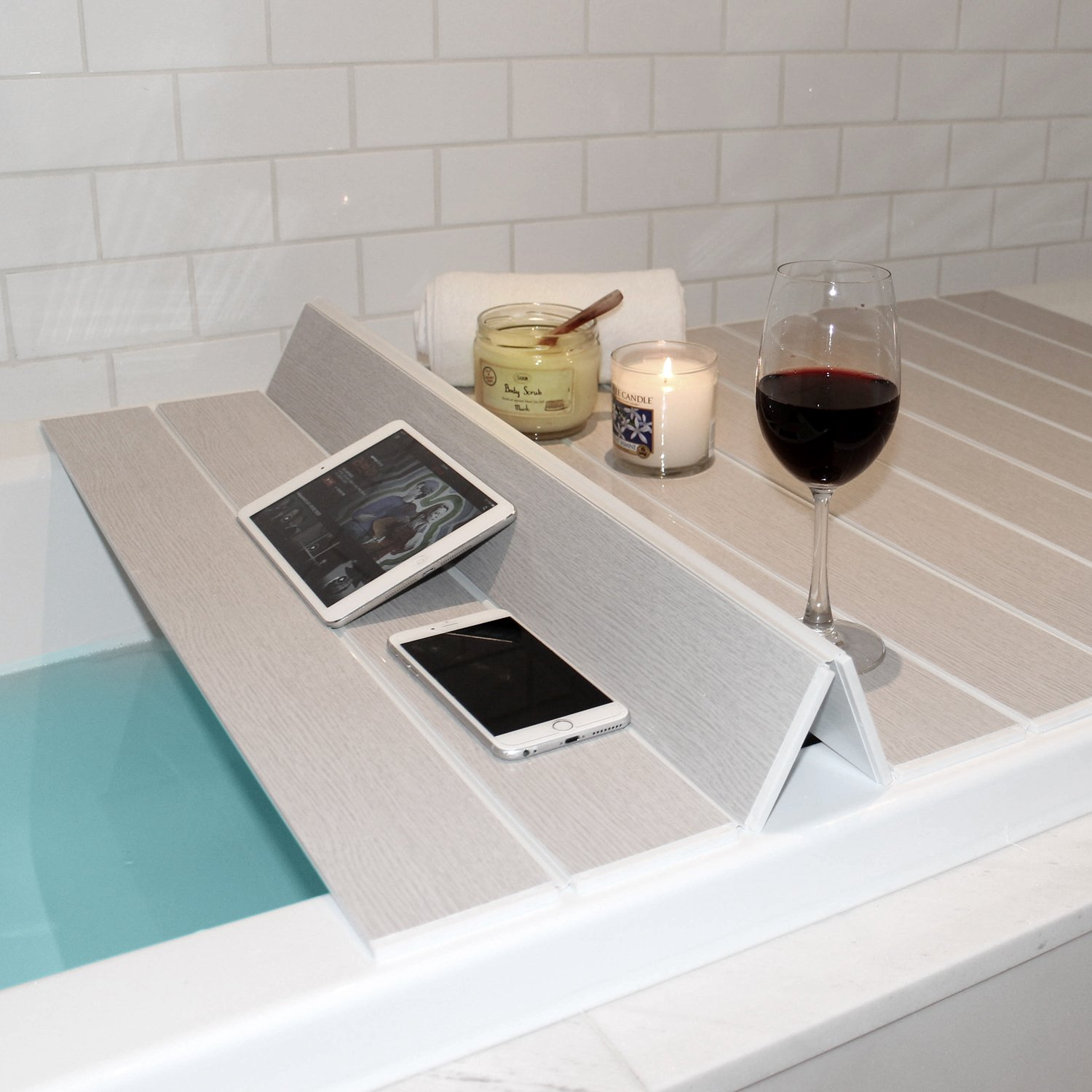 Mia home Folding Bathtub Tray, Good for Keeping Water Hot, Foldable ...