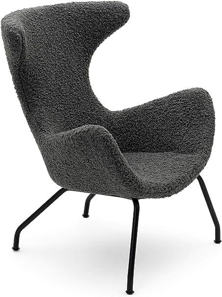 Cairo Designer Lounge Sessel Peco Loungesessel Ohrensessel Wohnzimmersessel Relaxsessel Polstersessel Wohnzimmer Modern Grau Bxhxt 77x96x78 Cm Amazon De Kuche Haushalt