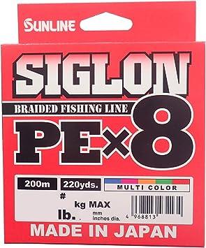 Sunline Siglon Braided Linie X8 150M P.E 1.2 20LB Dark Green 1779