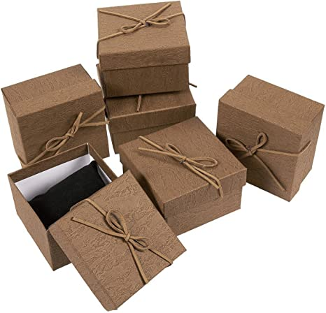 Set of 6 Gift Boxes Lids Storage Boxes Valvet Home Decor Mothers Day Party