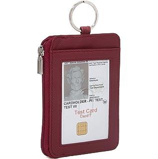 Amazon com: RFID Slim ID Wallet Card Holder - Key Ring Front