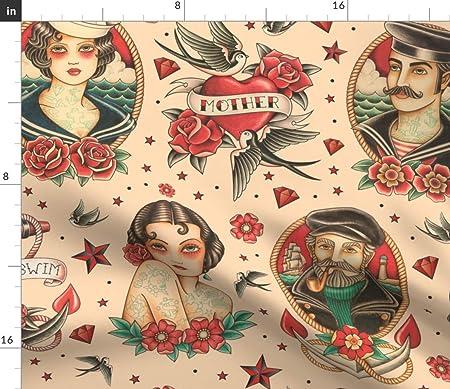 Tela de Tatuaje – Old School Flash Tattoo Classic Tatuaje Old ...
