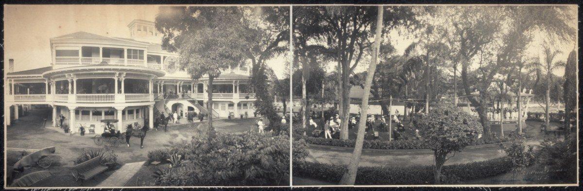 c1902 Hawaiian Hotel 24'' Vintage Panorama photo