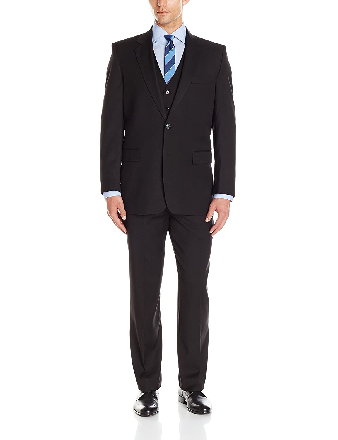 Adolfo Mens Micro Tech Portly Suit Jacket