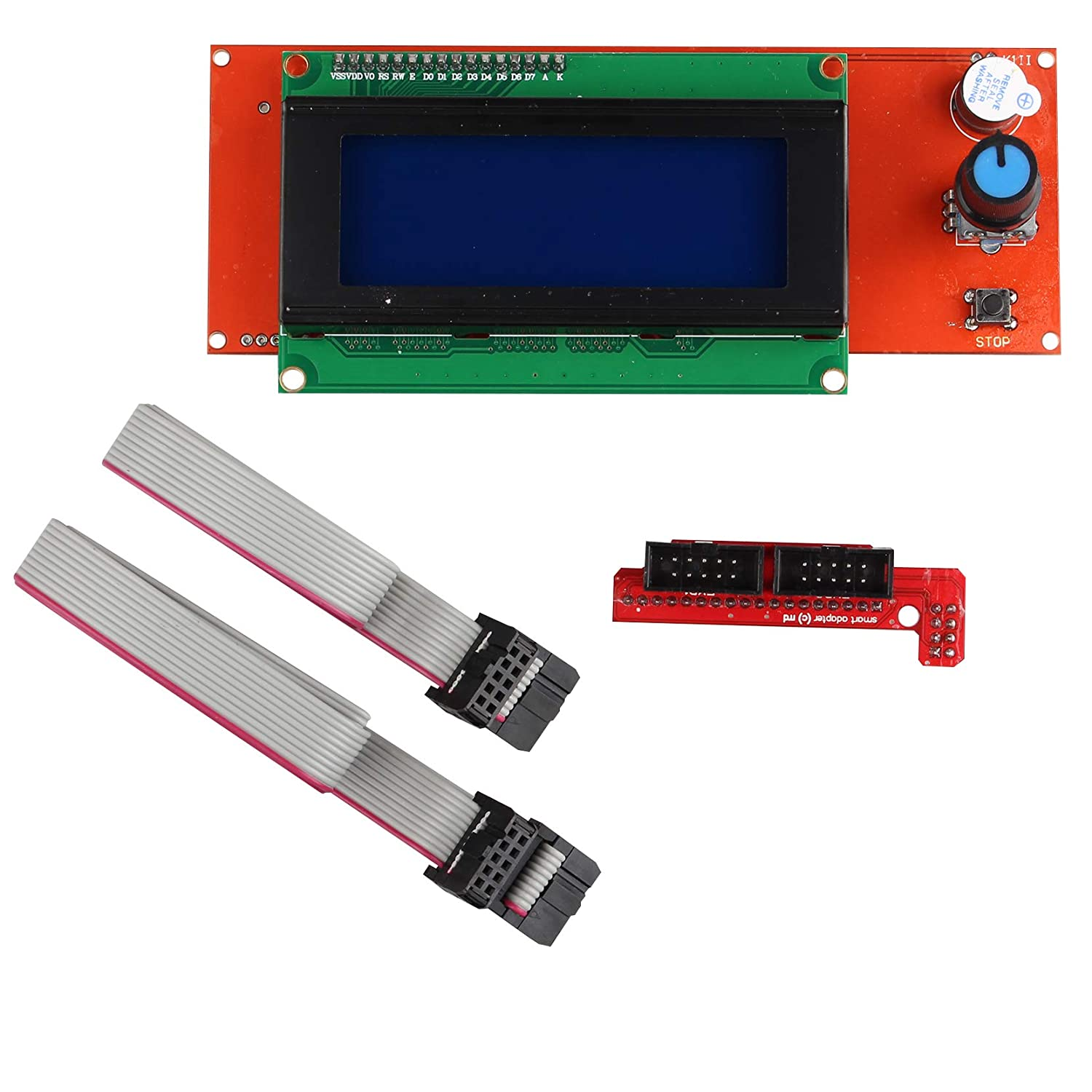 2004 LCD Graphic Smart Display Screen Controller Module with Adapter and Cable Compatible for 3D Printer Controller RAMPS 1.4 Arduino Mega Arduino RepRap Pololu Shield