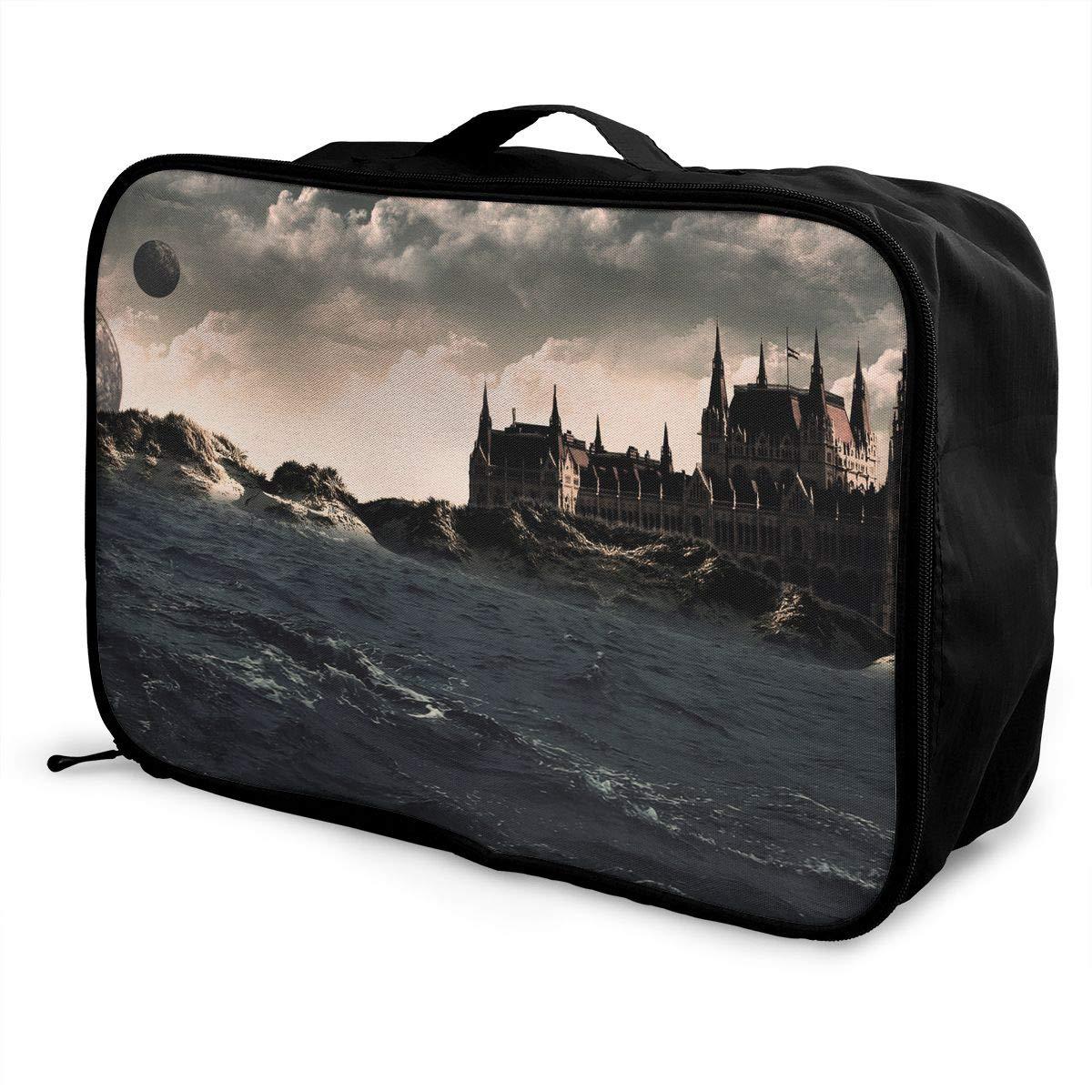 Travel Luggage Duffle Bag Lightweight Portable Handbag Surreal World Water Pattern Large Capacity Waterproof Foldable Storage Tote