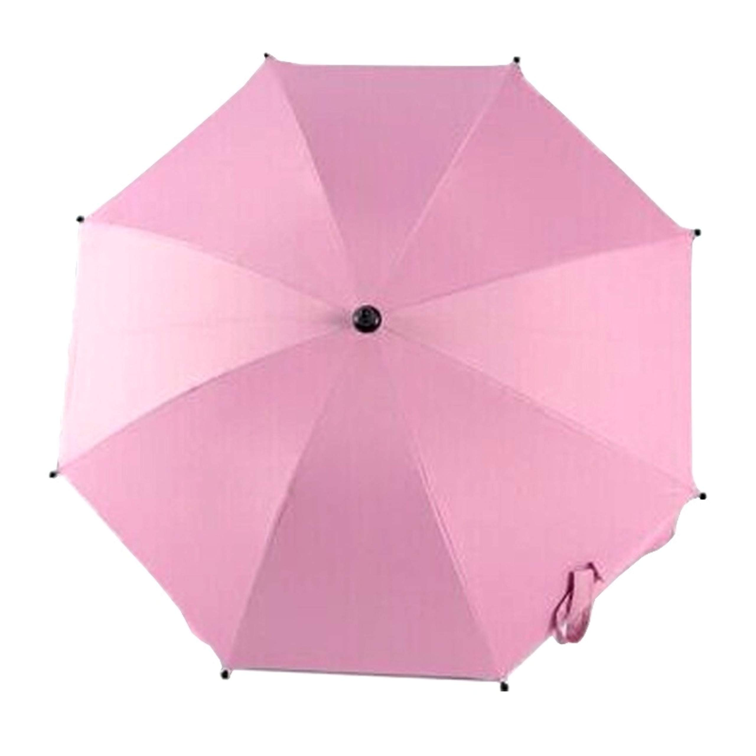 Adjustable Umbrella for Golf Carts, Baby Strollers/Prams and Wheelchairs to Provide Protection from Rain and The Sun(Pink)