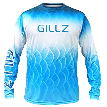 80f279fef Amazon.com : Gillz Mens Extreme Scales Long Sleeve Shirt : Sports ...