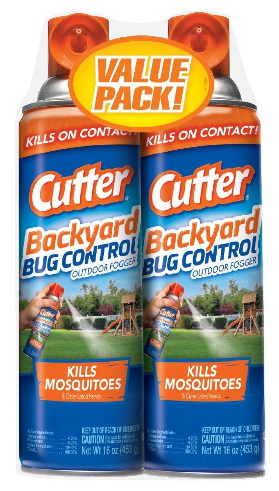Cutter Backyard Bug Control Outdoor Fogger,16oz, Pack of 2