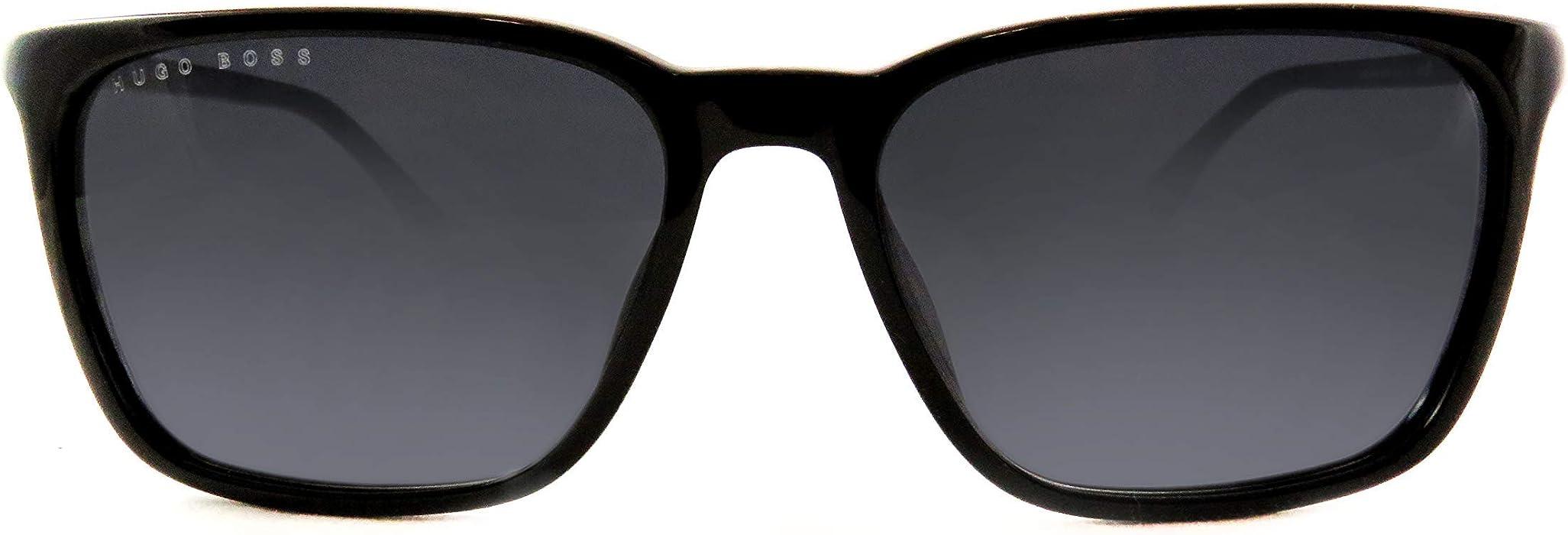 b6036923058 BOSS by Hugo Boss Men s Boss 0922 s Polarized Oval Sunglasses BLACK 51 mm