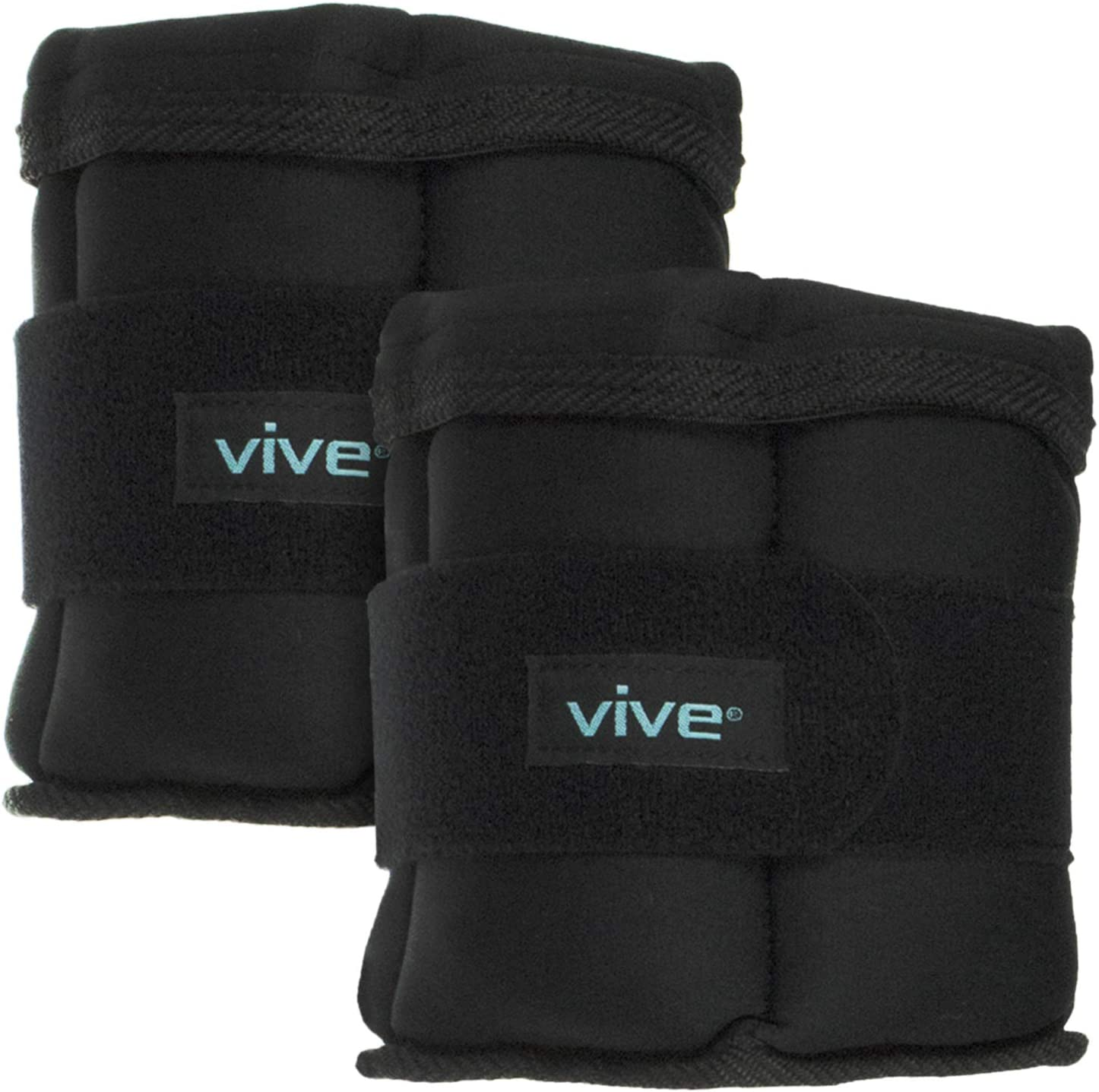 Vive Ankle Weight Set for Women Men – Pair of 2.5 or 5 LBs – Weighted Muscle Toner for Legs, or Wrist, Arms w Adjustable Strap – Resistance Training Exercise Equipment for Running Walking