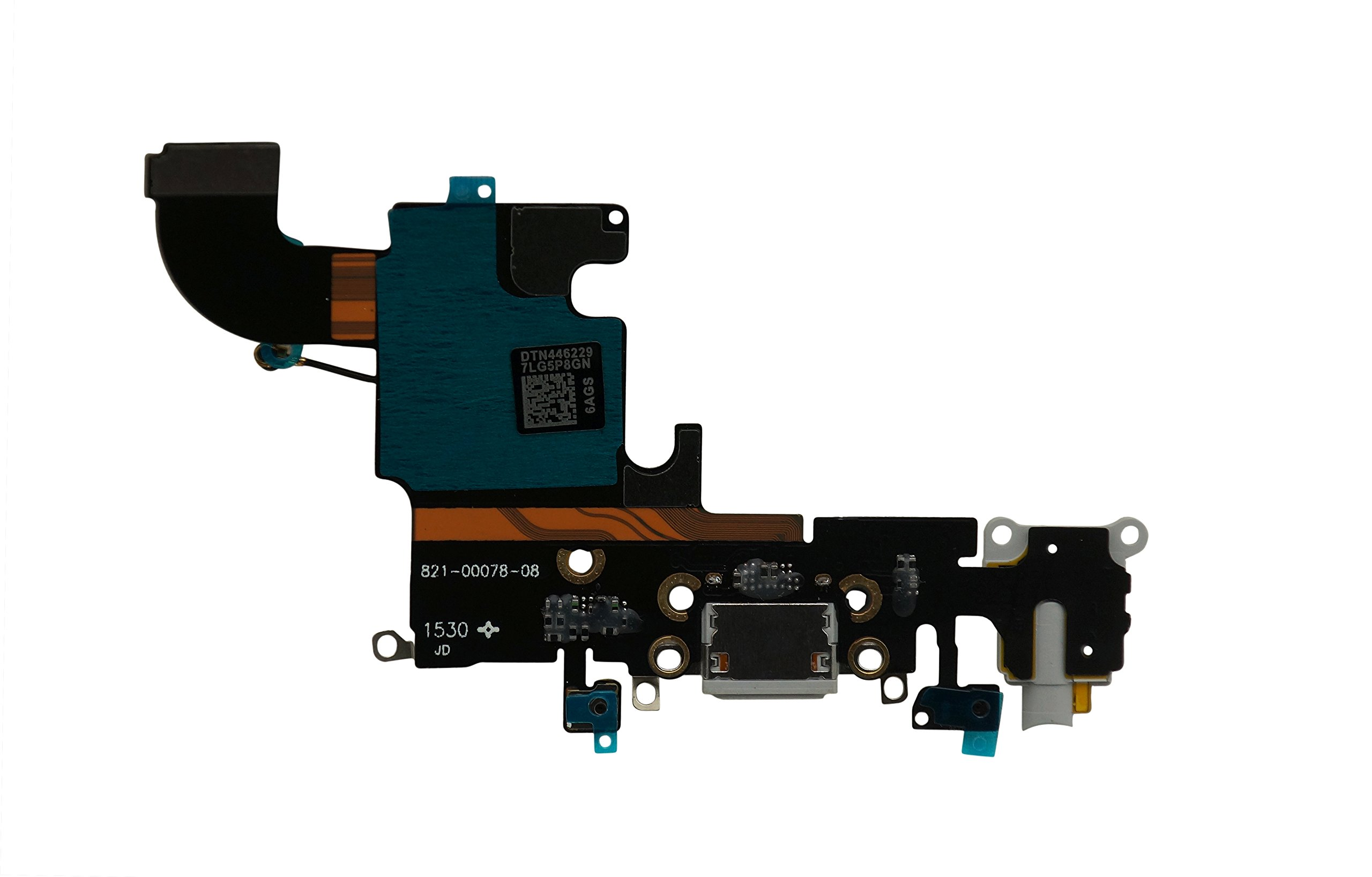 DonkeyEmma New Charging Port Headphone Jack Flex Cable Replacement for iPhone 6S (Grey)
