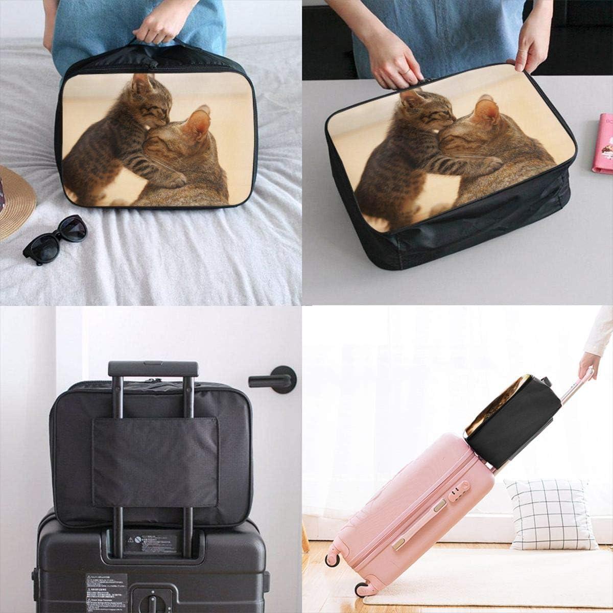 Yunshm Animal Cat Cute Kitten And Cat Mom Customized Trolley Handbag Waterproof Unisex Large Capacity For Business Travel Storage
