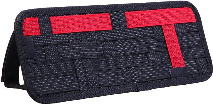 Red LZVTO Organizer,Sun Visor Elastic Storage Plate,13.39 Inches X 5.52 Inches